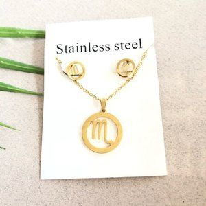NEW Scorpio Sign StainlessSteel Necklace Earring